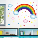 Cartoon rainbow clouds wall stickers wholesale NHAF337007