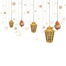 Fashion moon golden chandelier stars wall stickers NHAF337009