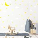 Cartoon moon clouds stars wall stickers wholesale NHAF337011