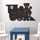 Fashion small train shape wall stickers wholesale NHAF337019