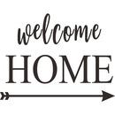 Fashion English slogan welcome home wall stickers wholesale NHAF337023