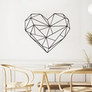Simple geometric love wall stickers wholesale NHAF337025