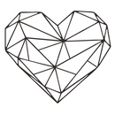 Simple geometric love wall stickers wholesale NHAF337025