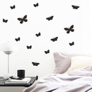 Simple solid black butterfly wall stickers wholesale NHAF337028
