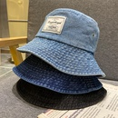 Korean sunscreen patch denim fisherman hat NHALD337046