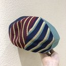 Retro contrast color cotton beret wholesale NHALD337047