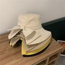Korean bow sunshade sunscreen fisherman hat NHALD337056