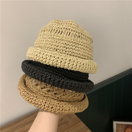 Fashion handmade without eaves straw hat NHALD337057's discount tags