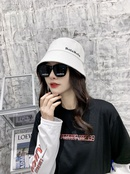 Korean embroidered letters sunshade fisherman hat NHALD337074