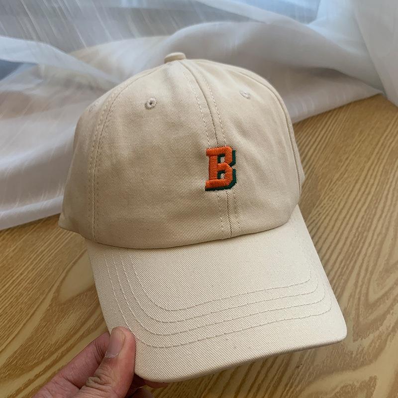 Korean B letter embroidery sunscreen cap NHALD337077