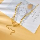 Korea geometric stainless steel necklace wholesale NHHF337082