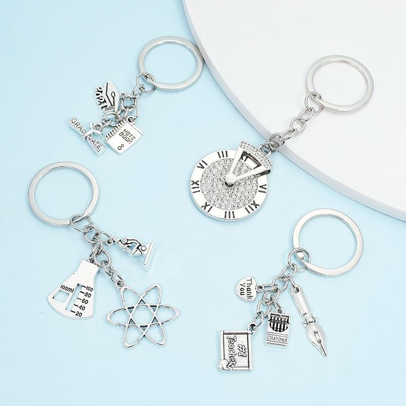 simple geometric alloy keychain NHAP337098
