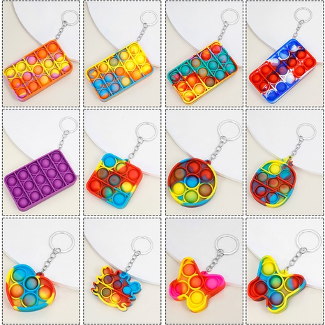 simple fashion geometric keychain NHAP337109's discount tags