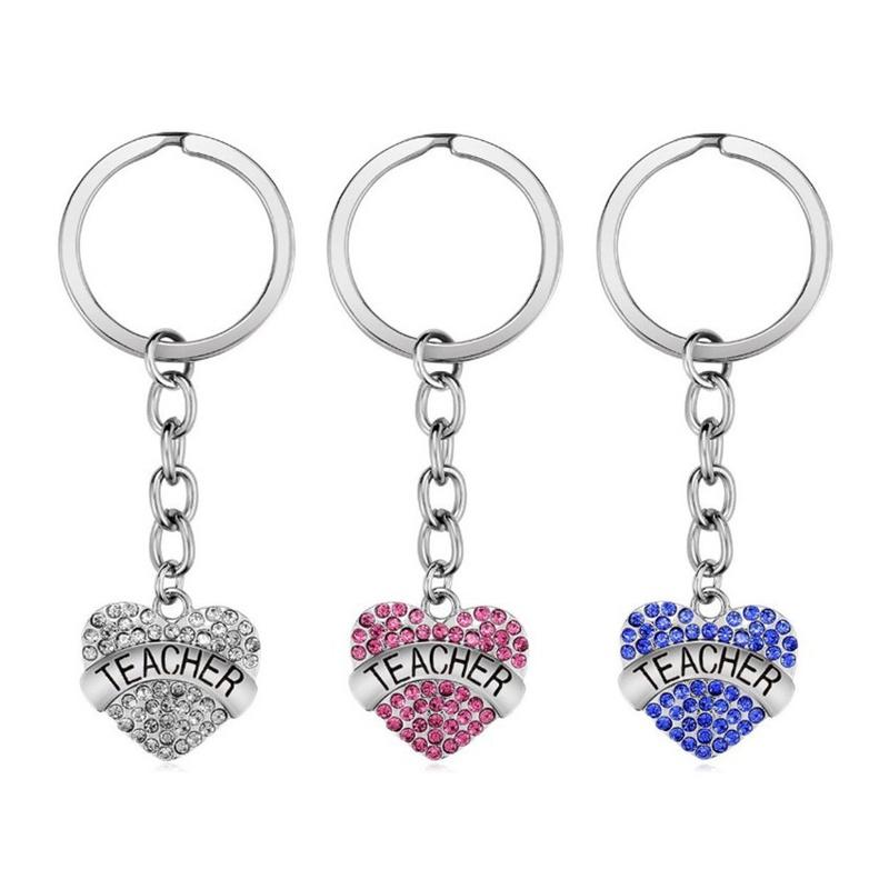 fashion stainless steel pendants love diamond keychain NHOA337112