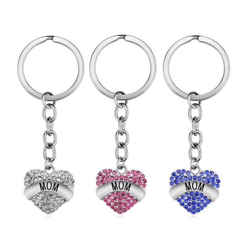 fashion stainless steel pendant letter MOM keychain NHOA337114