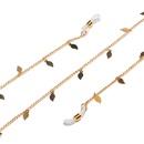 Fashion Golden Copper Leaf Glasses Chain NHBC337116