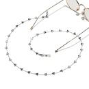 fashion peach heart stainless steel glasses chain NHBC337134
