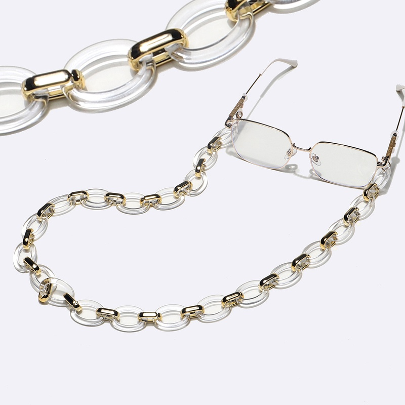 fashion black gold mixed color glasses chain  NHBC337145