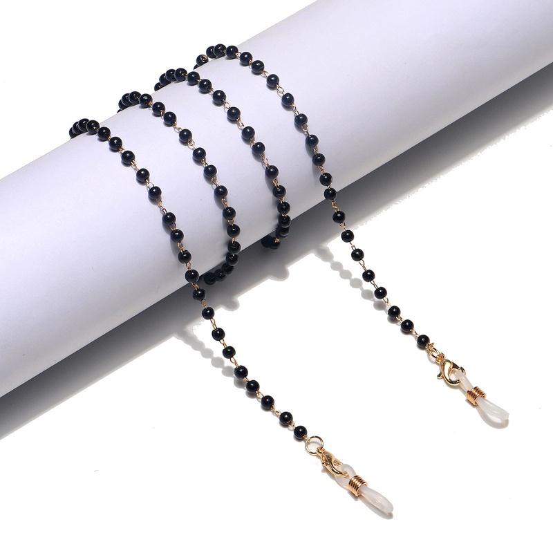 fashion black white pearl glasses chain  NHBC337148