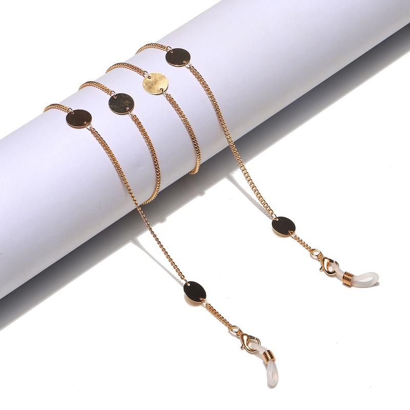 fashion large disc pendant glasses chain NHBC337151