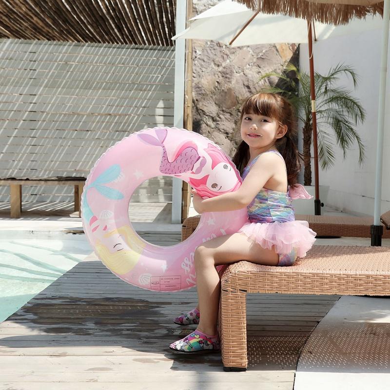 Cartoon children thickened mermaid swimming ring wholesale NHWW337155