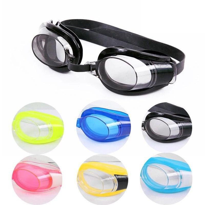 Fashion highdefinition flat light large frame waterproof and antifog swimming goggles NHWW337163