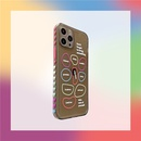 love color geometric English phone case NHFI337166
