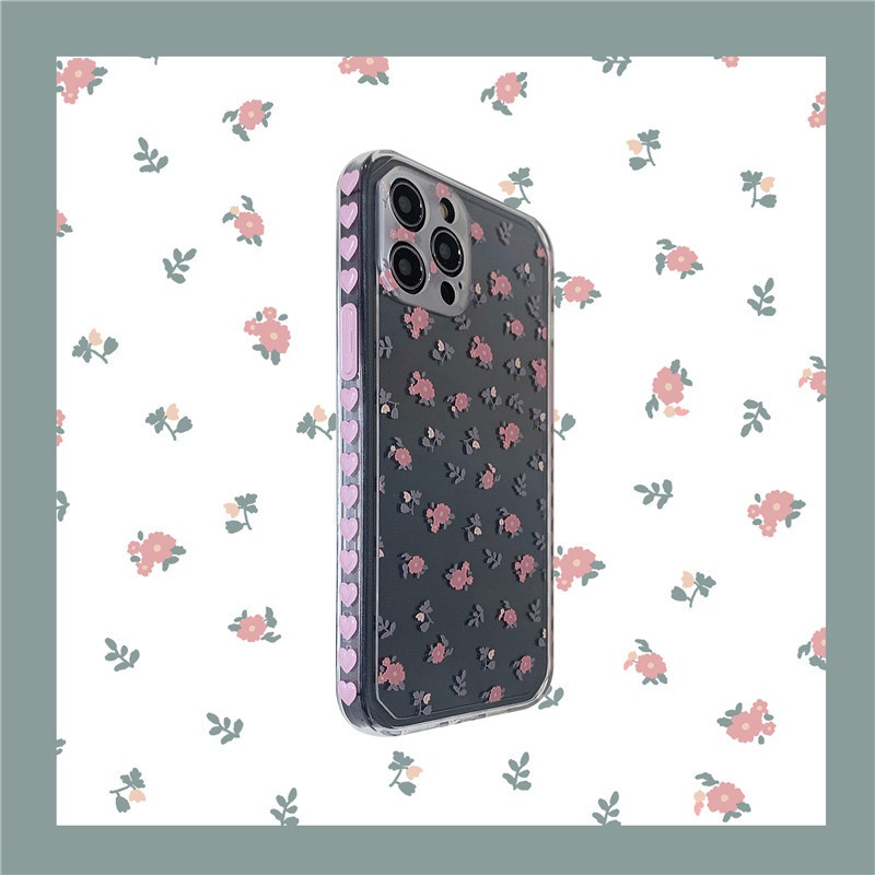 Gentle floral love side phone case NHFI337175