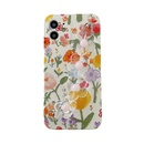 Simple flower chain shell phone case NHFI337178