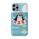 Cute cartoon surfing penguin phone case NHFI337187
