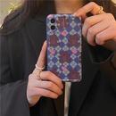 blue lattice love bear phone case NHFI337191
