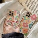Korean floral square phone case NHFI337197