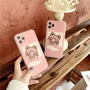 Side love cartoon brown bear phone case NHFI337200
