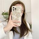 Korean simple green flower phone case NHFI337211