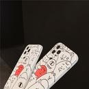 Korean cartoon line little monster phone case NHFI337215