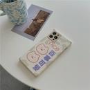 cute cartoon line bear phone case NHFI337220