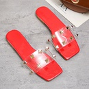 Fashion flatheeled large size sandals wholesale NHPE337233