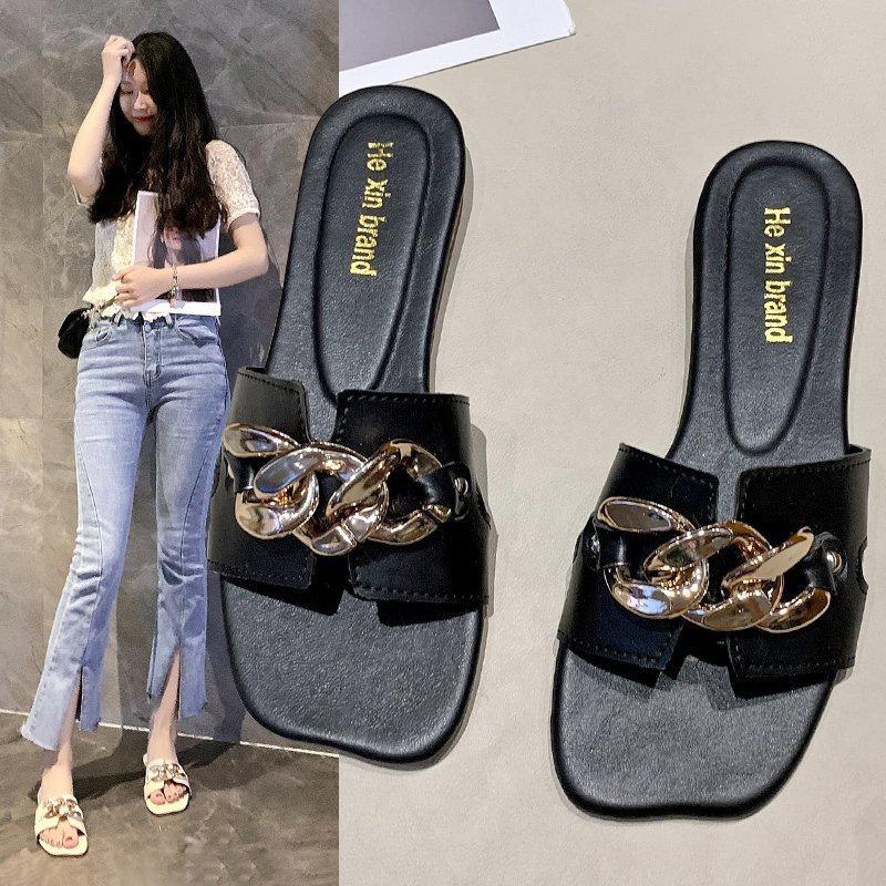 Fashion square headflatheeled sandals wholesale NHPE337239