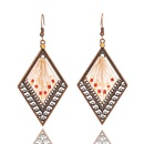 retro diamondshaped handwoven beads earrings NHAKJ337243