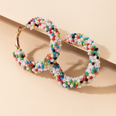 Einfache Farbe Reisperlen böhmischen Stil mehrfarbige Ohrringe NHGY337937's discount tags