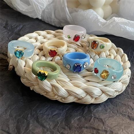anillo de resina multicolor de diamantes creativos de moda NHGY336150's discount tags
