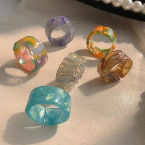 Anillo de resina de color popular creativo de moda NHGY336148's discount tags