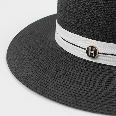 Korean sunscreen straw hat wholesale NHXO336757's discount tags