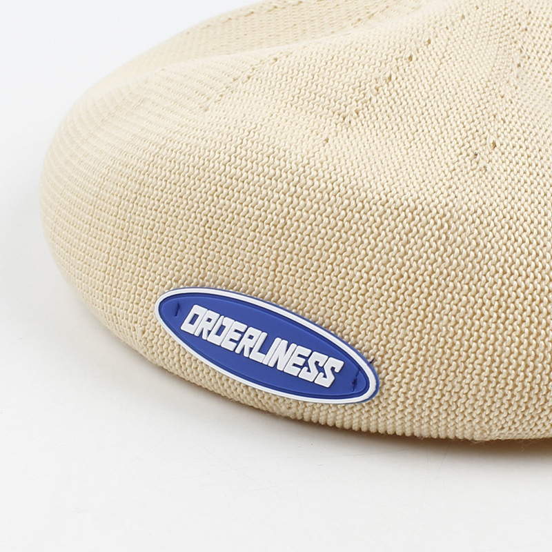 Fashion thin breathable letter beret wholesale NHXO336722