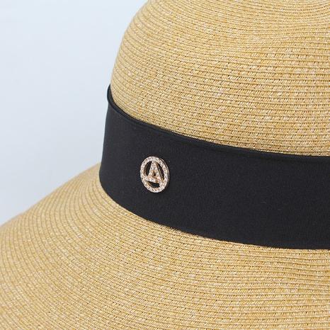 Fashion dome sunscreen foldable sunshade straw hat NHXO336719's discount tags