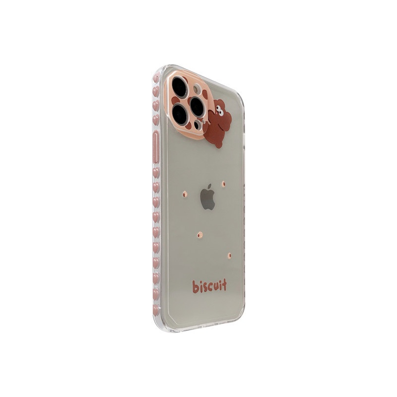 cartoon biscuit bear phone case NHFI337165