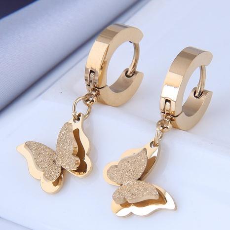 Mode OL Schmetterling Titan Stahl Ohrringe NHSC337916's discount tags