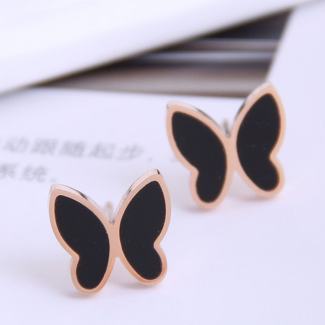 Mode süße OL Schmetterling Titan Stahl Ohrringe NHSC337913's discount tags