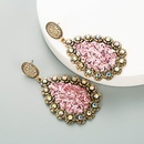 new fashion alloy inlaid rhinestone sequin earrings NHLN340849