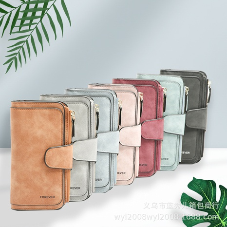 Korean Coin Purse Clutch Bag PU Leather Multi-purpose Large Capacity Long Wallet Card Case NHLAN337251's discount tags